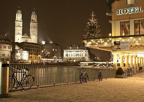 Zurich in winter by Victoria Savostianova