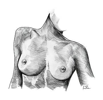 Zwyla Nude Sketch by Doug LaRue