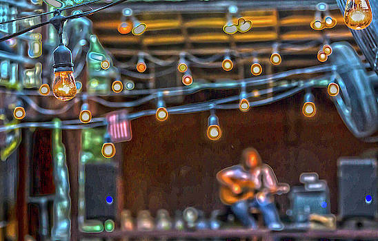 025 - Guitarist and Lights by David Ralph Johnson