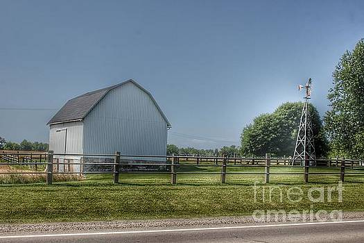 0351 - M-90 White and Windmill  by Sheryl L Sutter