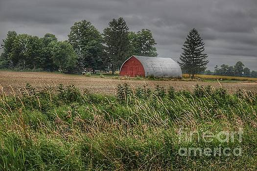 0353 - Mayville Road's Red Quonset by Sheryl L Sutter
