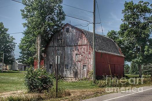 0366 - Roods Lake Road Red by Sheryl L Sutter