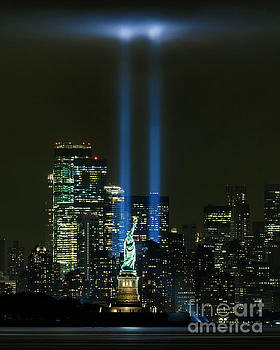 911 Tribute in Light by Zawhaus Photography