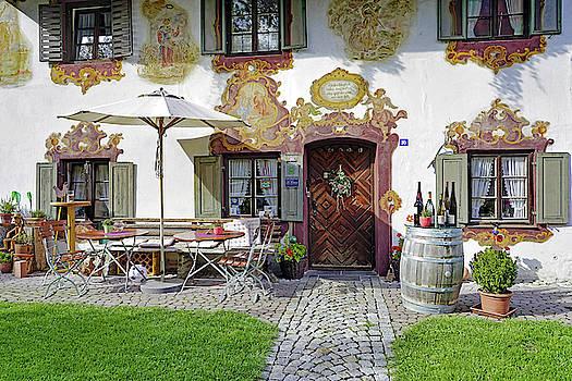 A Bavarian Restaurant In Oberammergau Germany by Richard Rosenshein