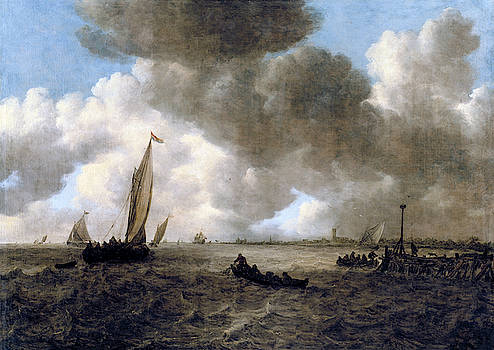 Jan van Goyen - A Stormy Seascape