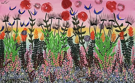 Abstract Flower Garden  by Anthony Masterjoseph