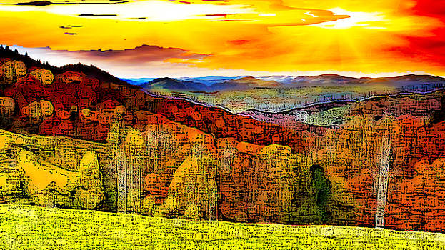 Abstract Scenic 1 by Bruce Iorio