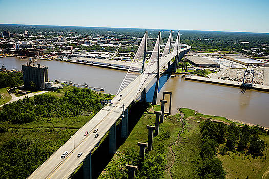 Aerial View Of Talmadge Bridge by Panoramic Images