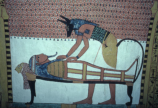 Tomb Painting in Egypt by Carl Purcell