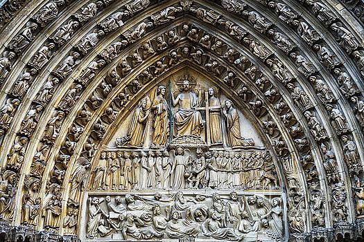 Architectural Details Cathedral Notre Dame de Paris France by Wayne Moran