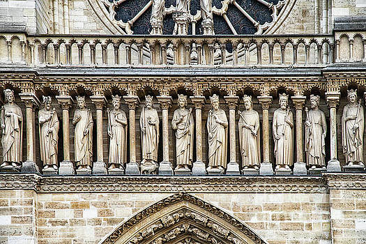 Architectural Details Cathedrale Notre Dame de Paris France by Wayne Moran