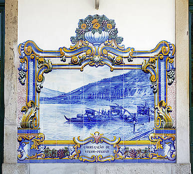 Azulejo Tile Scene by Sally Weigand