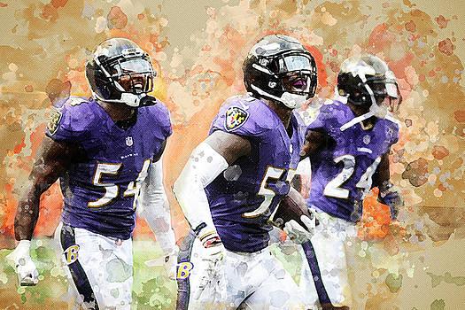 Baltimore Ravens by Nadezhda Zhuravleva