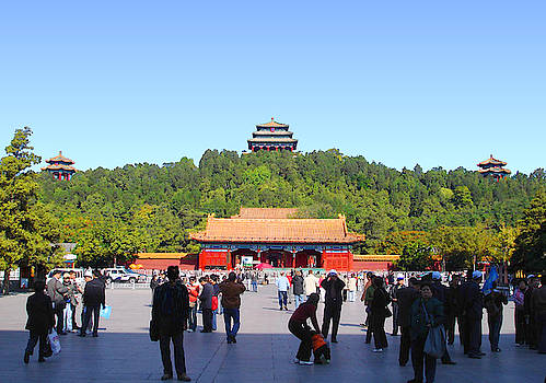Beautiful photo of the Forbidden City, Palace Museum, in Beijing, China. by Steve Clarke