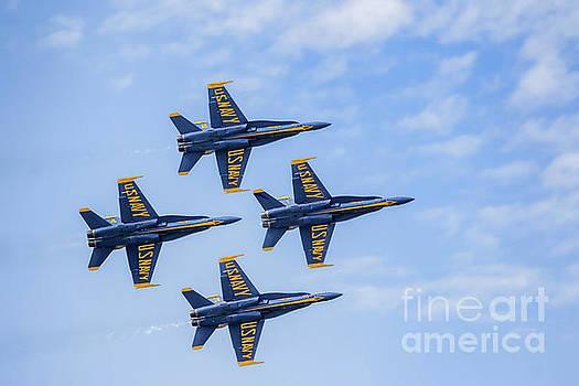 Blue Angels 3 by Warrena J Barnerd