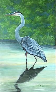 Blue Heron by Jeanette Jarmon