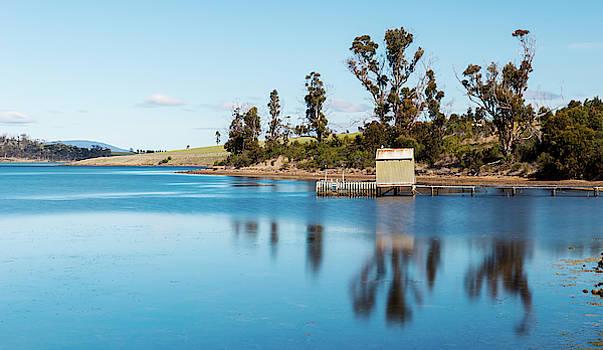 Boat jetty found on Bruny Island in Tasmania, Australia. by Rob D