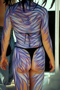 Nude Body paint at Fantasy Fest in Key West by Carl Purcell