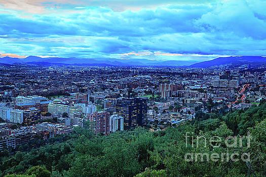 Bogota, Colombia - Twilight View Of Usaquen From La Calera by Devasahayam Chandra Dhas