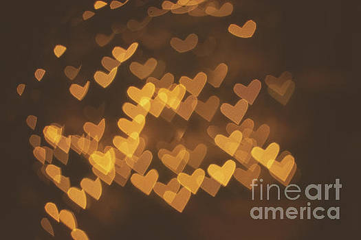 Bokeh of hearts by Mariusz Talarek