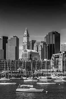 Melanie Viola - BOSTON Skyline North End and Financial District - Monochrome