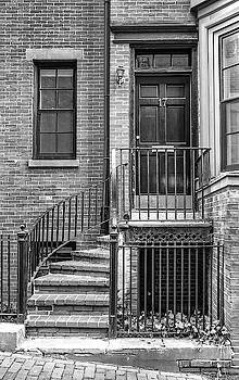 Bostonian Door bw by Jerry Fornarotto