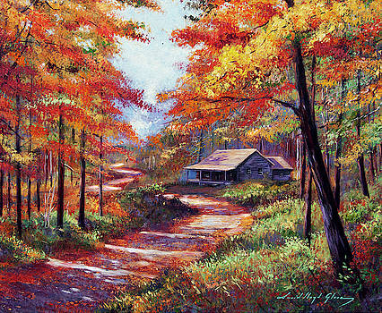 Cabin In The Woods by David Lloyd Glover