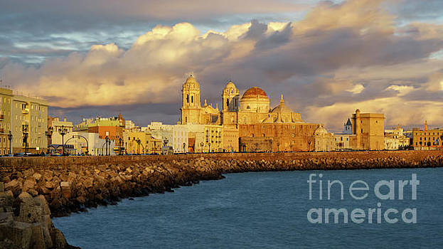 Cathedral from Southern Field Cadiz Spain by Pablo Avanzini