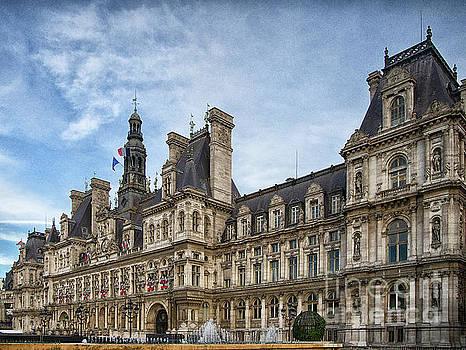 City Hall Hotel de Ville Paris France by Wayne Moran