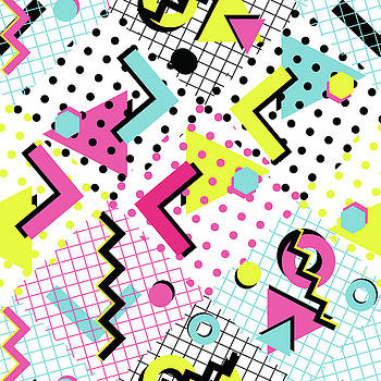 Colorful Abstract 80s Style Seamless by Alex bond