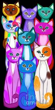 Colorful Cats by Nick Gustafson