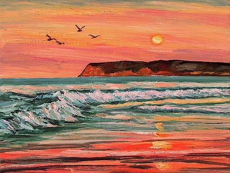 Coronado Beach Evening Tide by Robert Gerdes