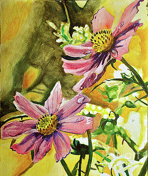 Cosmos After Rain by Lori Moon