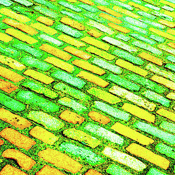Diagonal Street Cobbles by Le Comp