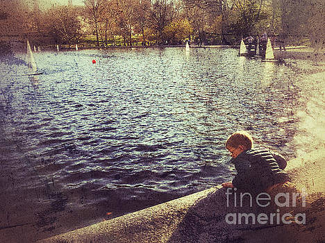 Dreaming By the Pond - Central Park in Spring by Miriam Danar