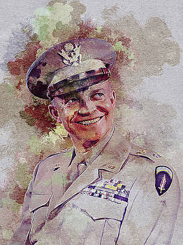 Dwight David Eisenhower by Elena Kosvincheva