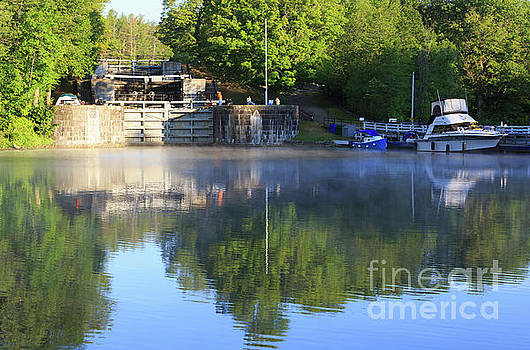 Early morning below the lock flight at Jones Falls Ontario by Louise Heusinkveld
