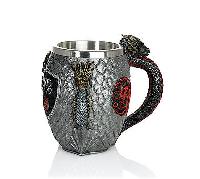 Fire and Blood tankard from Game of Thrones series by Steven Heap