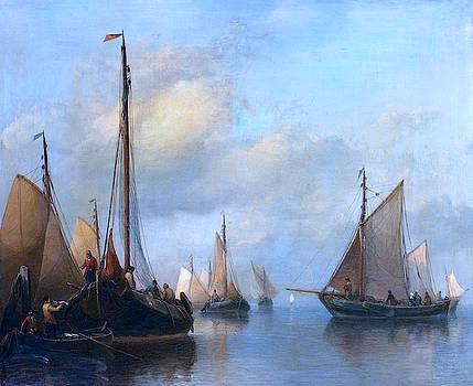 Anthonie Waldorp - Fishing Boats on Calm Water