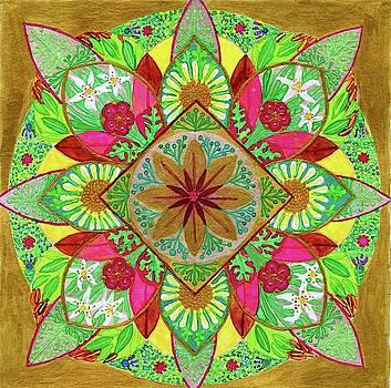 Flower Garden Mandala by Sandy Thurlow