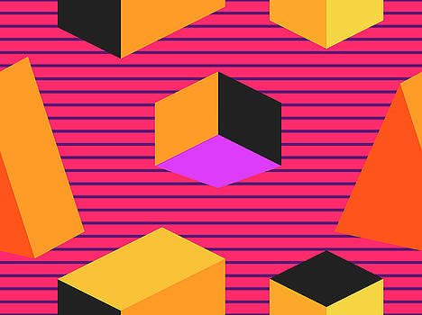 Geometric Shapes In Isometric Style by Andrii Vinnikov