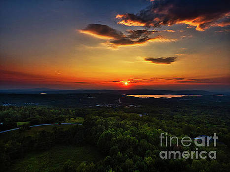 Gilford N H Sunset by Mim White