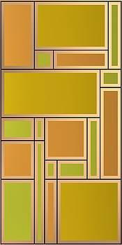 Golden geometric composition by Alberto RuiZ