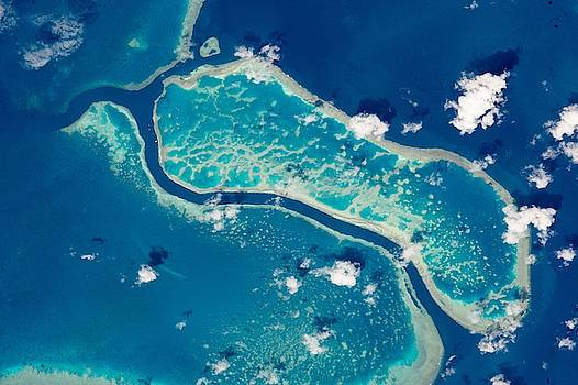 Great Barrier Reef Near Whitsunday Islands by Celestial Images