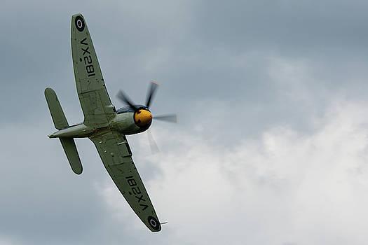 Hawker Sea Fury Fly By at RAF Cosford 2019 by Scott Lyons