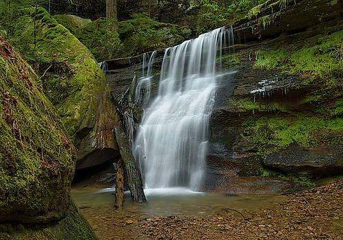 Hidden Falls near Cedar Falls, Hocking Hills State Park, OH by Ina Kratzsch