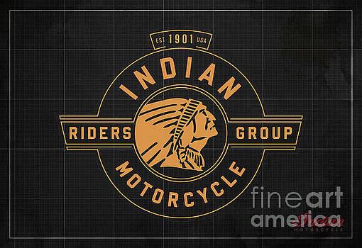 Indian Motorcycle Old Vintage Logo Dark Grey Background by Drawspots Illustrations