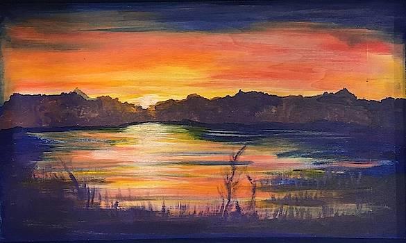 Lake Sunset  by Marcia Hero
