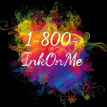1-800-InkOnMe Tattoo Logo Art 12 by Shirley Anderson