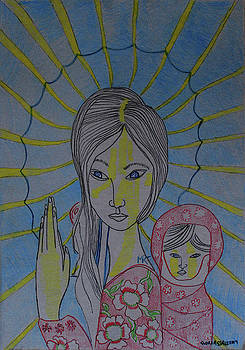 Madonna and Child Asia by Gloria Ssali